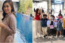 8 Momen Nisya Ahmad sewa studio bioskop buat nonton bareng keluarga