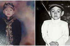 Potret masa kecil 7 seleb cowok dengan busana adat Jawa, gagah banget