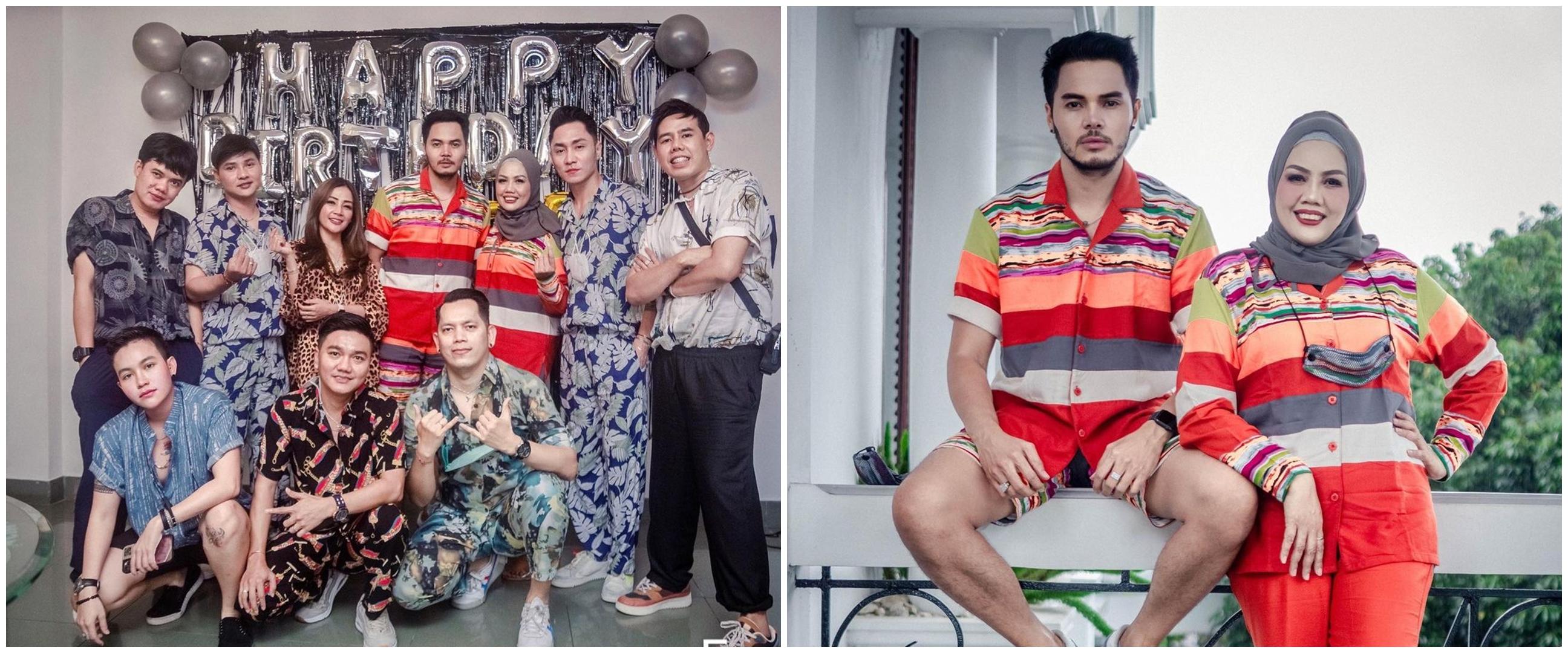 10 Momen ulang tahun Aher suami Elly Sugigi, bertema piyama