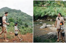 8 Momen Ringgo Agus trekking bareng Bjorka, mandi di curug