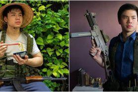 10 Aksi nyentrik Nicholas Sean main Airsoft Gun, curi perhatian