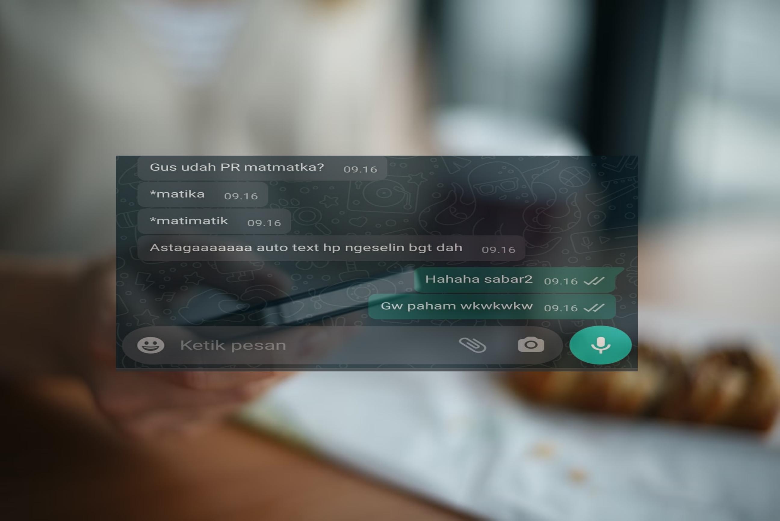 8 Chat typo saat bahas tugas ini bikin gagal paham