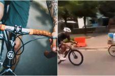 Viral aksi adu balap pedagang keliling dengan pesepeda road bike