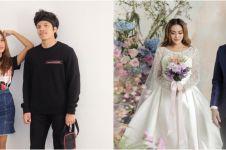 7 Potret prewedding Atta Halilintar & Aurel tema floral, elegan