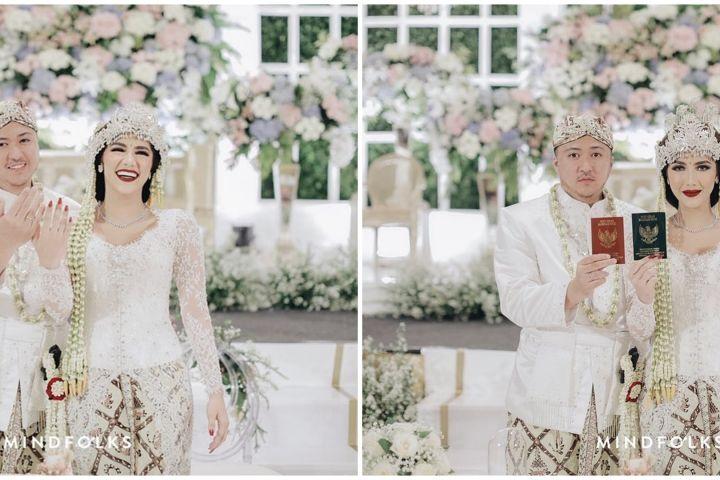 10 Momen pernikahan Syahra Larez mantan Rizky Billar, usung adat Sunda