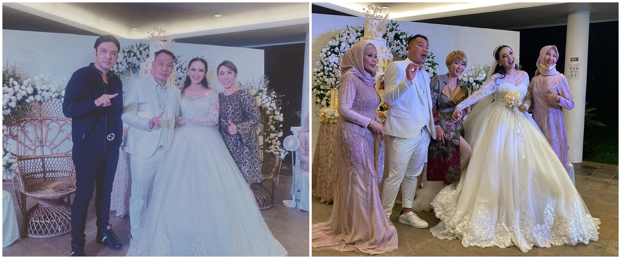 Gaya 7 seleb di pernikahan Kalina-Vicky, Celine Evangelista manglingi