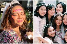 10 Potret seru bridal shower Aurel Hermansyah, topengnya bikin salfok
