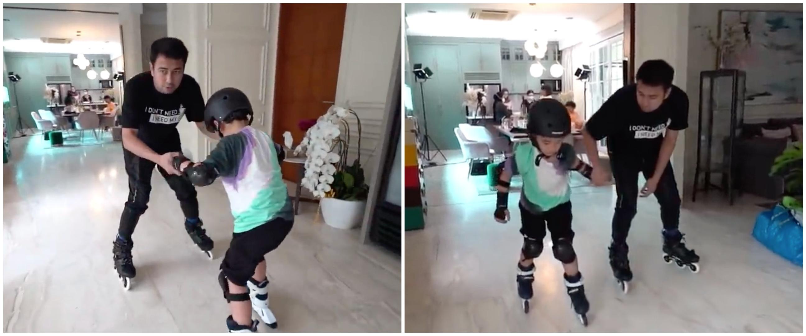 7 Aksi Raffi Ahmad bermain skate di ruang tamu ini tuai pujian