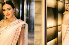 8 Potret Shandy Aulia kondangan pakai baju India, bak aktris Bollywood
