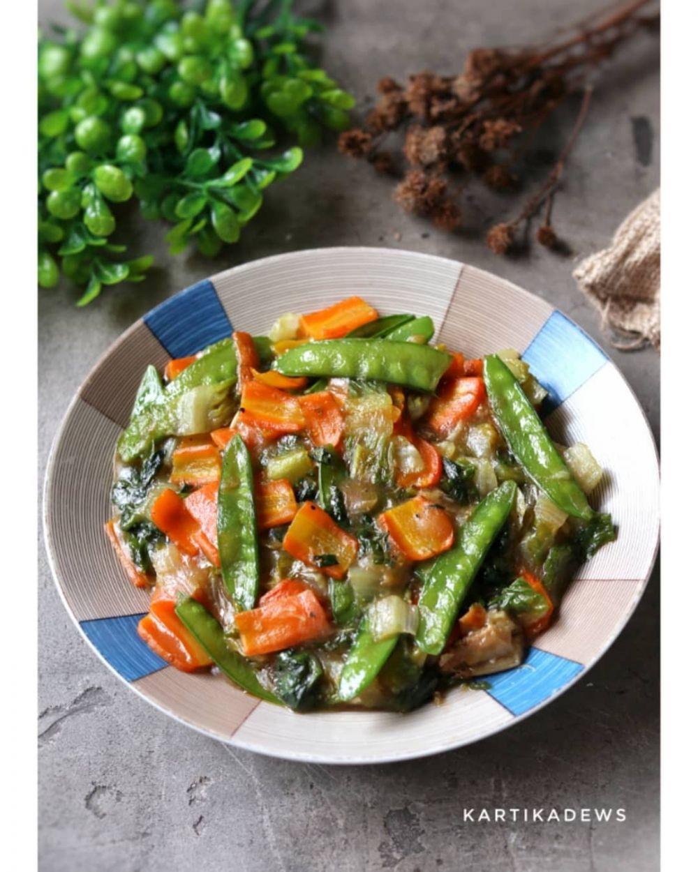 resep tumis sayur tiram © Instagram