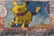 10 Gambar tokoh kartun di tembok ini absurdnya bikin kerutin dahi