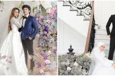 Potret 10 pasang seleb prewedding dengan baju pengantin, tampil beda