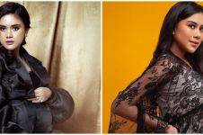Potret maternity 10 seleb dengan gaun hitam, Audi Marissa elegan