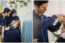 9 Momen akikah putra Vebby Palwinta & Razi Bawazier, konsep serba biru