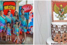 10 Potret kue ulang tahun keluarga Hermansyah, bikin sayang dimakan