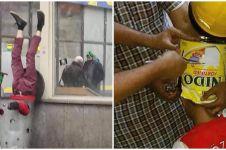 10 Potret apes orang tersangkut ini bikin linu lihatnya