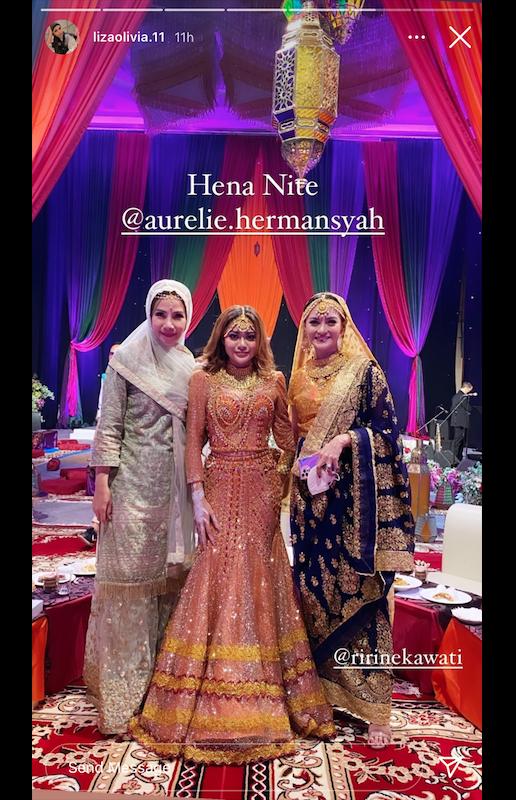 seleb di Henna Night Aurel Hermansyah © 2021 brilio.net