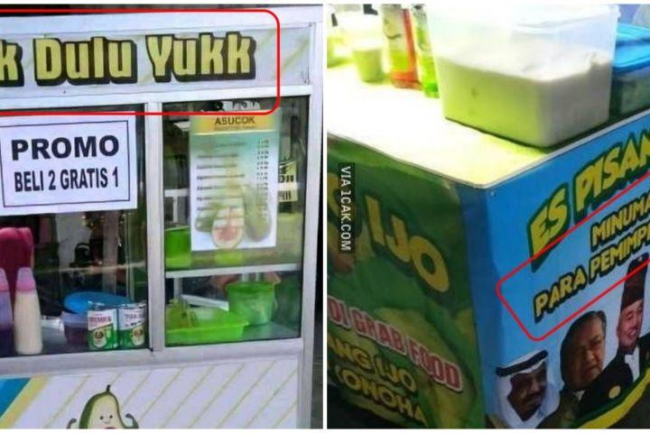 11 Slogan lucu penjual minuman ini bikin nyengir bingung