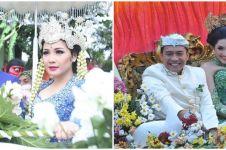 Potret lawas pernikahan 5 pasang seleb dengan arak-arakan, meriah pol