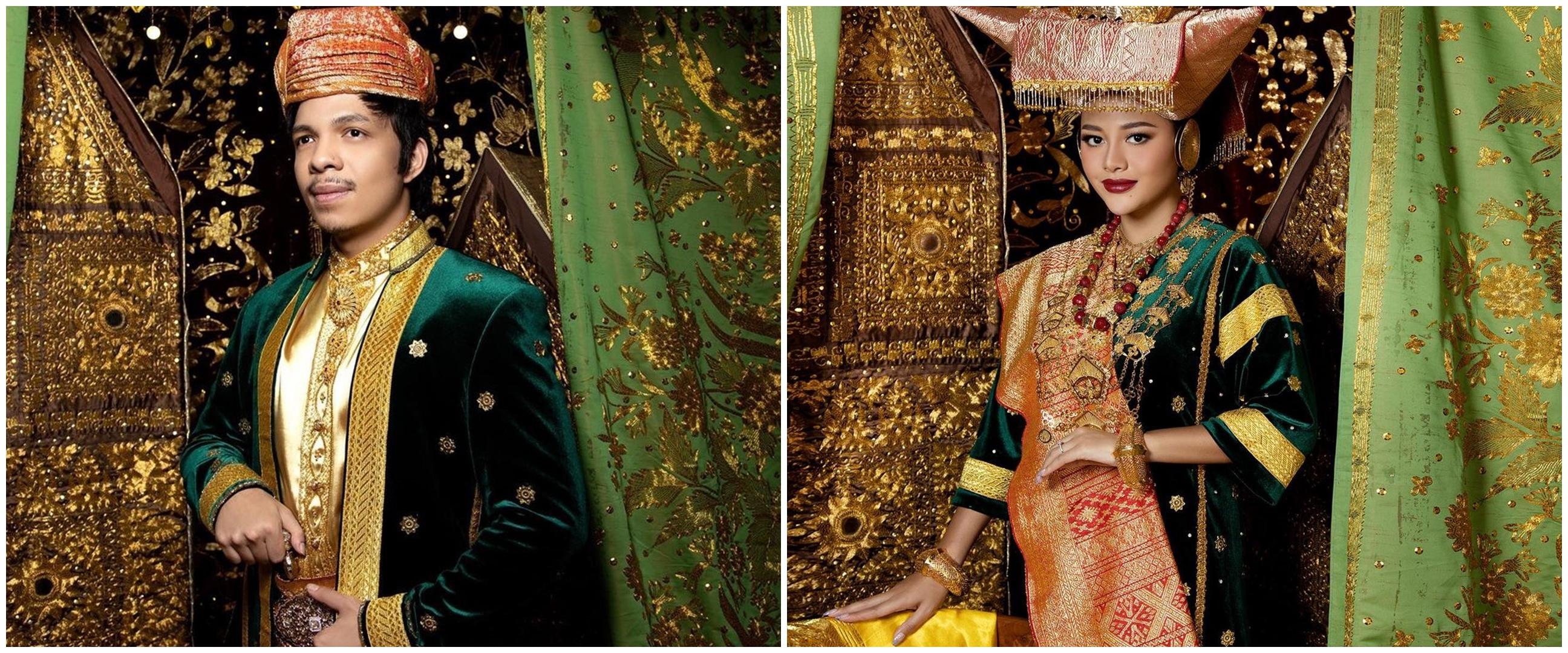 7 Potret prewedding Atta dan Aurel Hermansyah dengan busana Minang