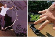 10 Aksi nyeleneh main skateboard ini nggak biasa, bikin mikir keras