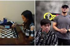 Aksi Susanto Megaranto dan Chelsie Monica main catur ini bikin takjub