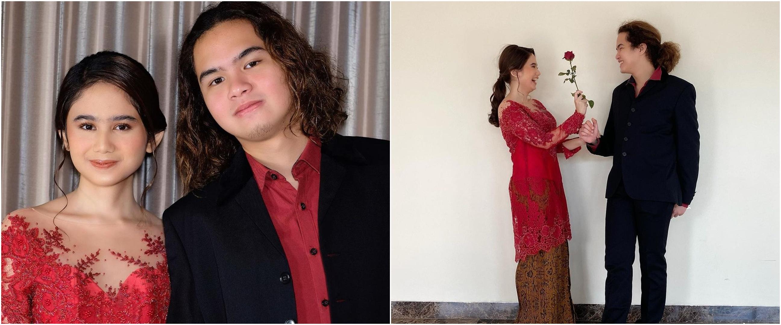 7 Potret Tissa Biani dan Dul Jaelani kondangan bareng, tampil kompak