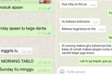 10 Chat lucu salah pakai bahasa asing, bikin ikutan kesal