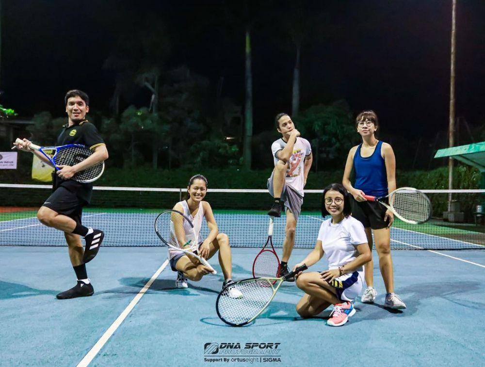 potret desta olahraga tenis © Instagram