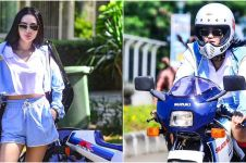 8 Potret Wika Salim mengendarai motor mini, gayanya curi perhatian