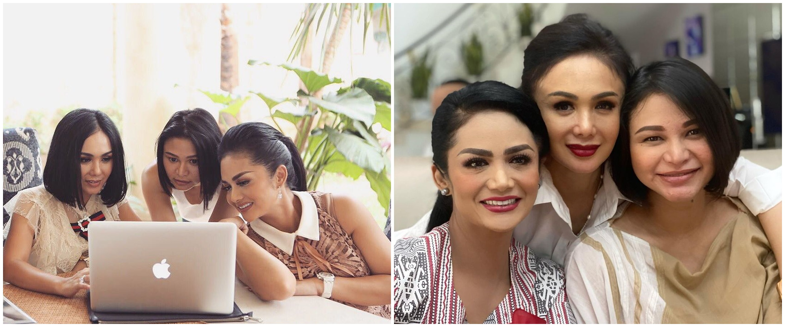 10 Potret kompak Yuni Shara, Krisdayanti, & Kartika Sary, sister goals