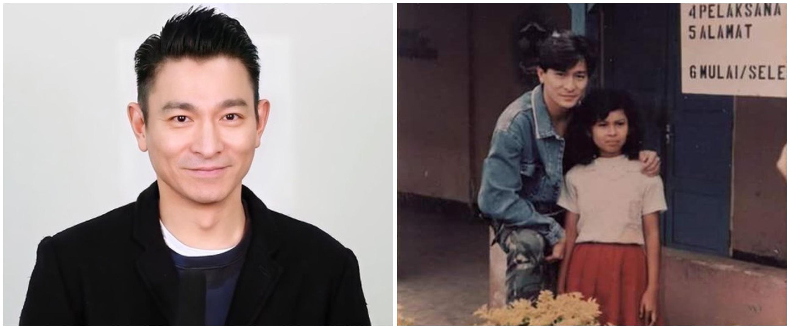 9 Potret lawas Andy Lau bareng Ninuk, anak angkatnya dari Salatiga