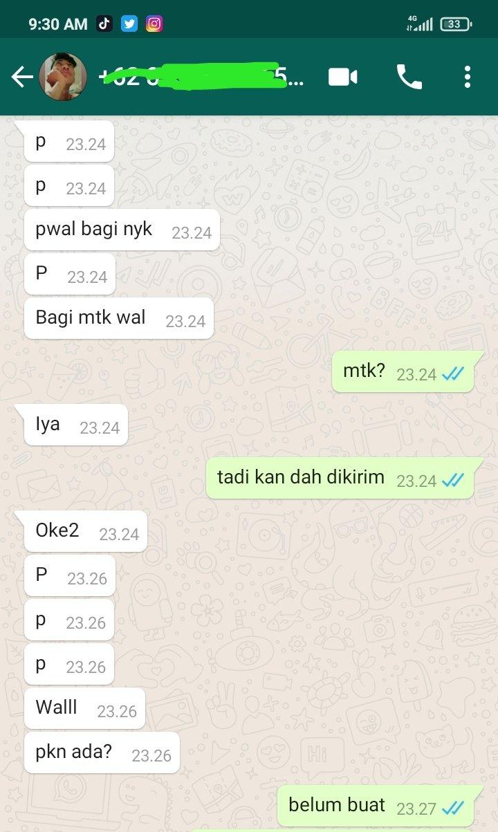 Chat minta contekan © berbagai sumber