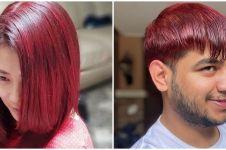 8 Gaya seleb dengan rambut merah, Fadil Jaidi warnai sendiri