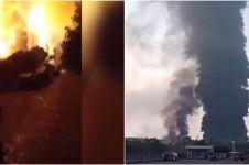 Rentetan kebakaran kilang minyak Balongan, sudah tiga kali terbakar
