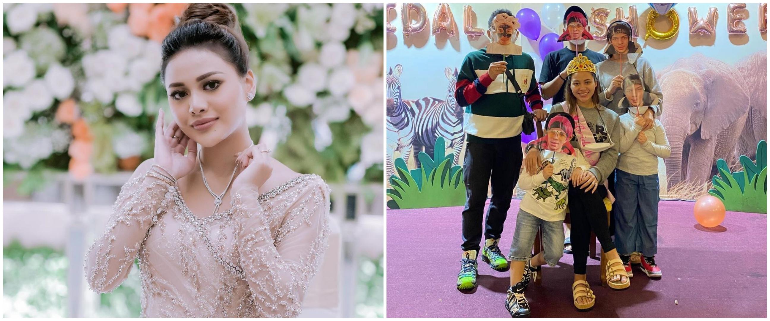 6 Momen seru kejutan bridal shower Aurel Hermansyah dari keluarga
