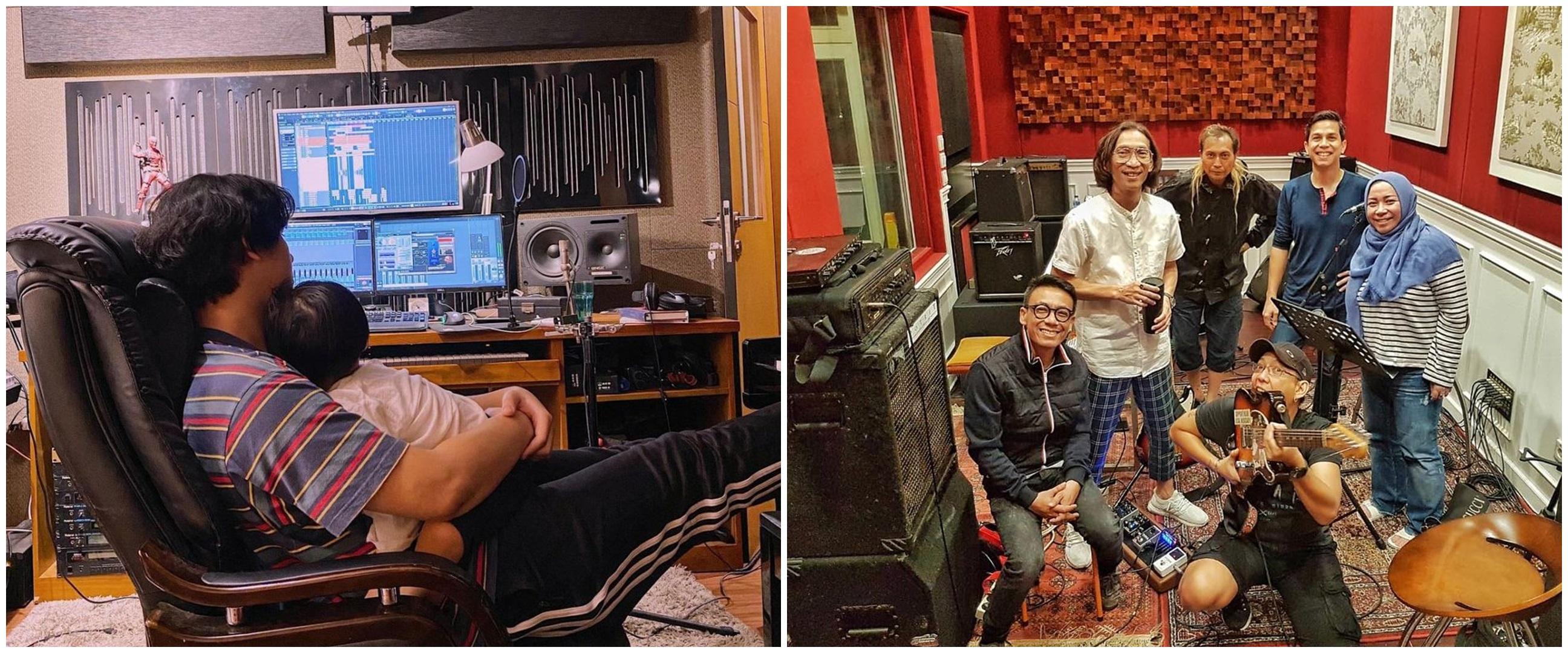Potret studio musik 10 seleb, Andre Taulany penuh aksesori The Beatles