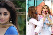 7 Momen Tina Datta 'Uttaran' rayakan festival Holi, seru abis