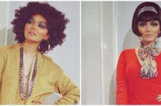 7 Gaya pemotretan Rina Nose dengan style 70-an, memukau dan manglingi