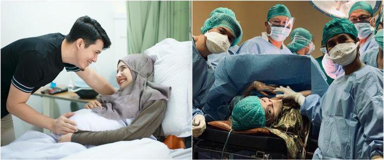 10 Momen Zaskia Sungkar melahirkan anak pertama, penuh haru