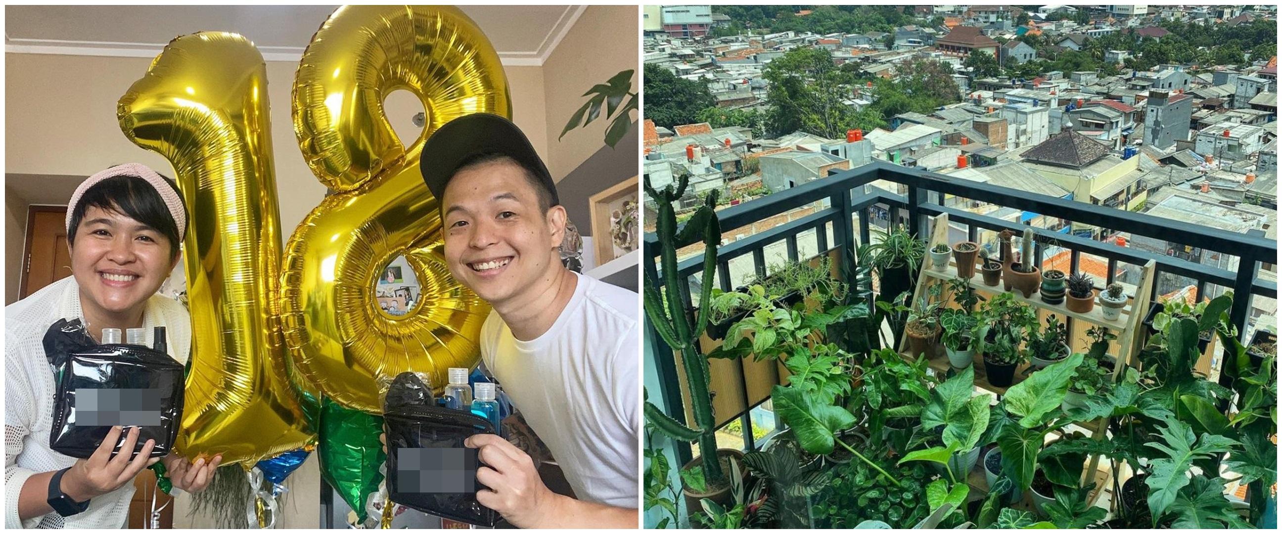 10 Penampakan apartemen Ernest Prakasa, rooftopnya penuh tanaman hias