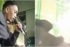 Viral video pria terkena ledakan saat lagi asyik karaoke