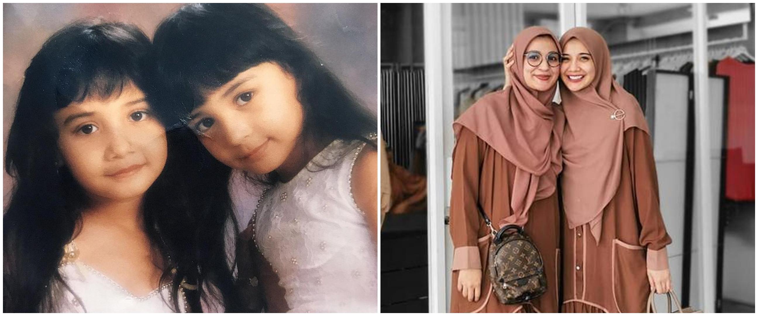 10 Potret Zaskia Sungkar & Shireen Sungkar sedari kecil, sibling goals