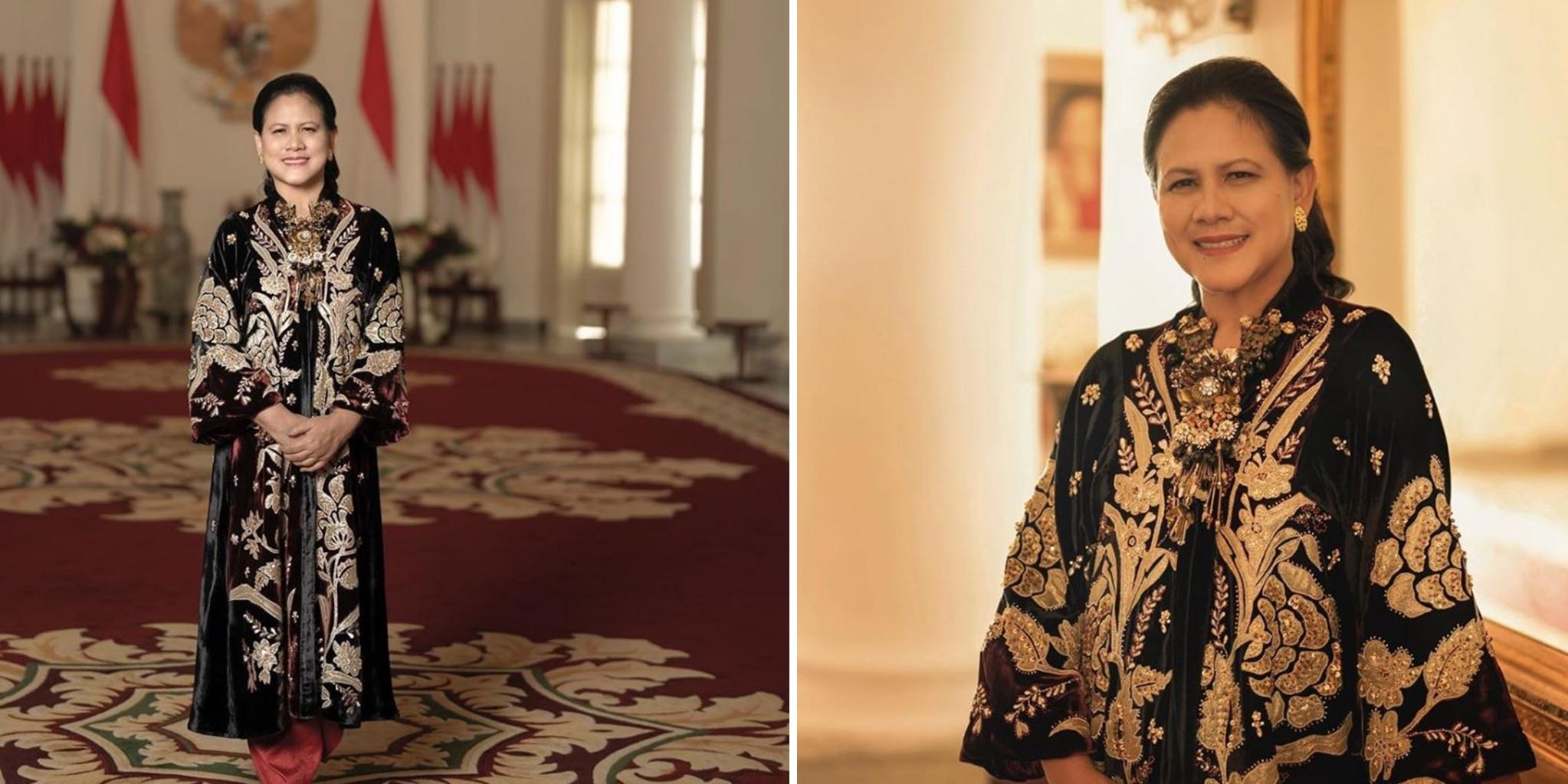 5 Potret gaya busana Iriana Jokowi di nikahan Aurel dan Atta, anggun