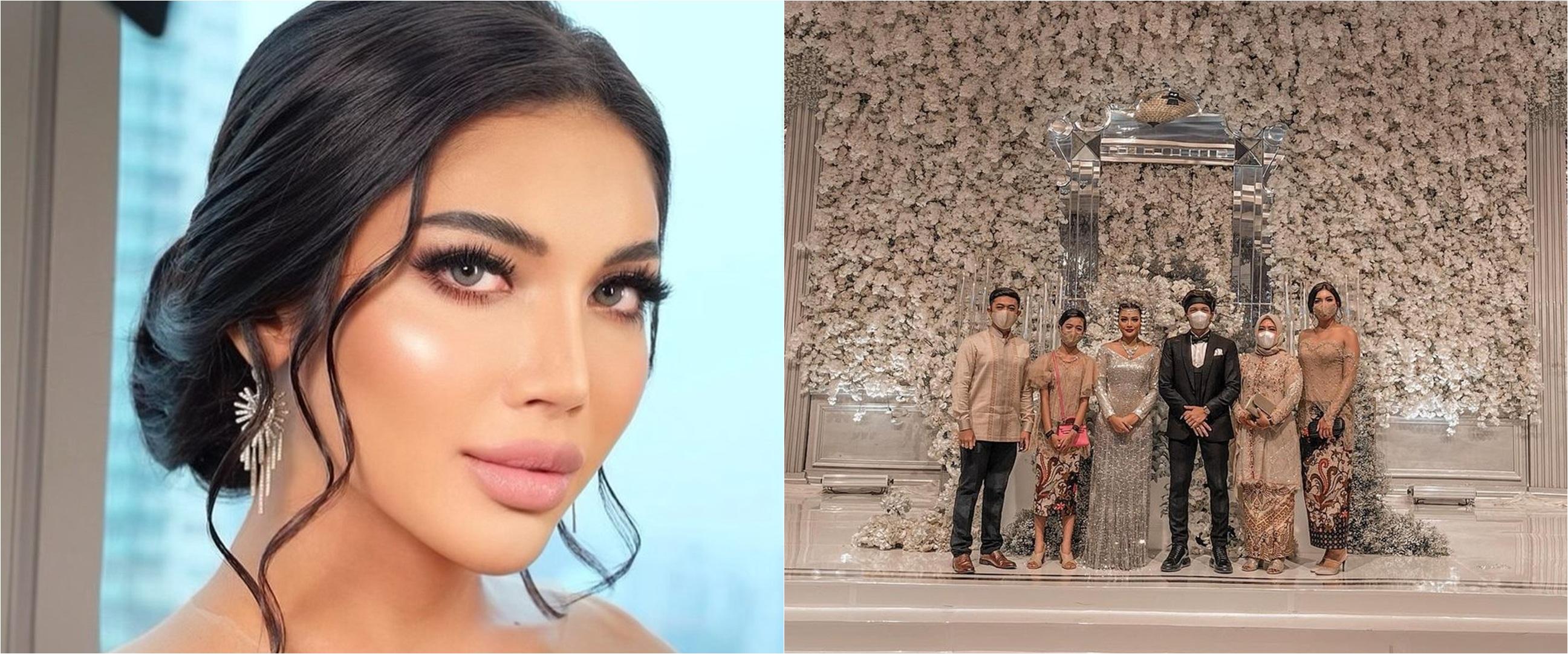 10 Gaya Millen Cyrus di syukuran pernikahan Aurel dan Atta, bak boneka