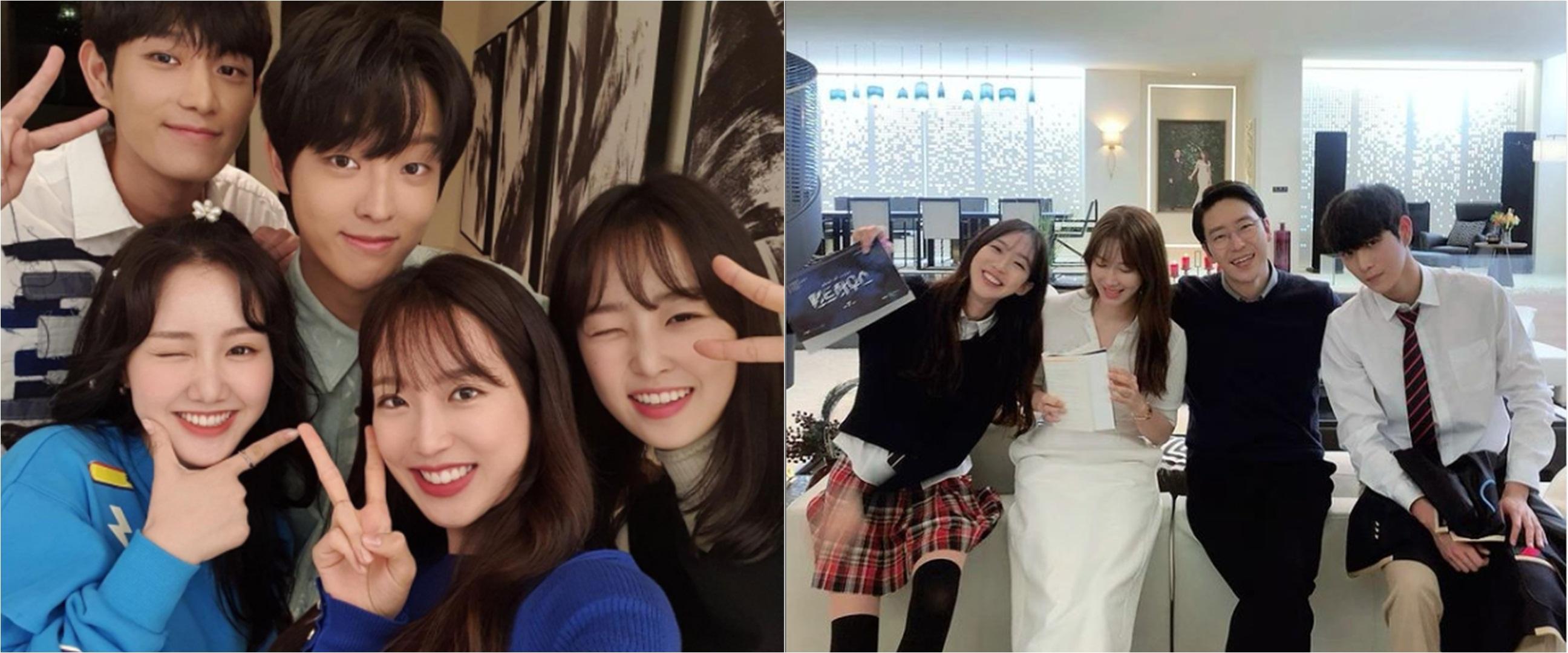 8 Potret kompak pemain drama Korea The Penthouse di luar syuting