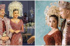 Pesona 10 seleb kenakan suntiang Minang saat menikah, anggun pol