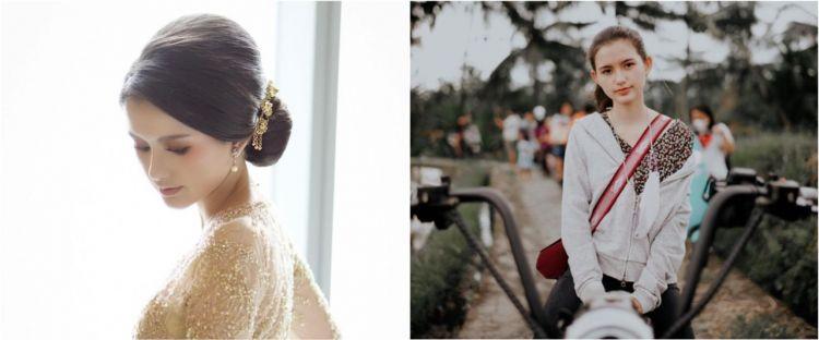 10 Gaya memesona Sarah Menzel hadiri pernikahan Aurel dan Atta