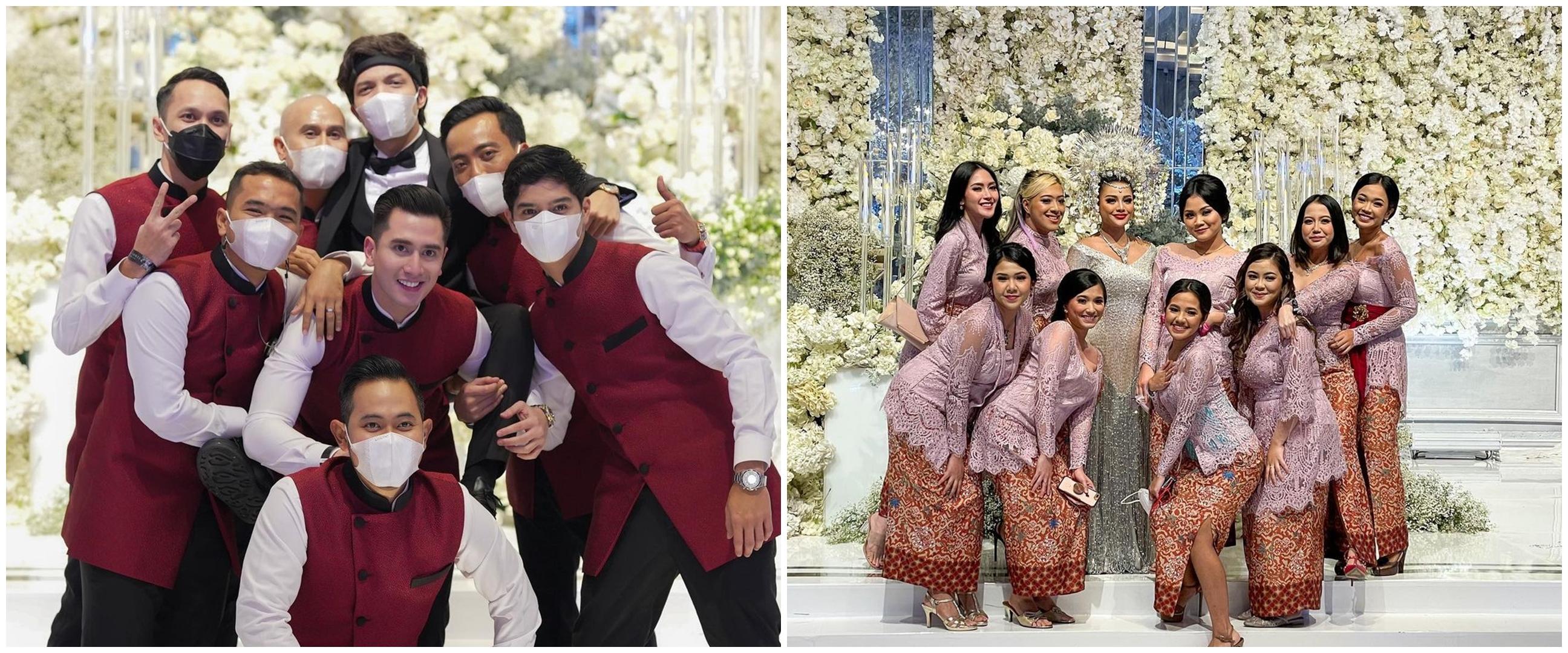 8 Potret bridesmaid dan groomsmen Atta dan Aurel, gayanya kece pol