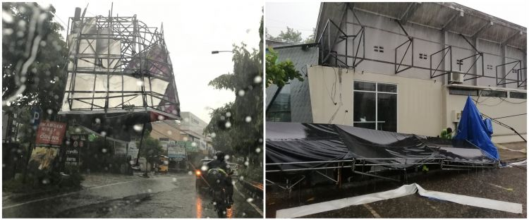 10 Potret Jogja pasca angin kencang, sejumlah pohon dan baliho tumbang
